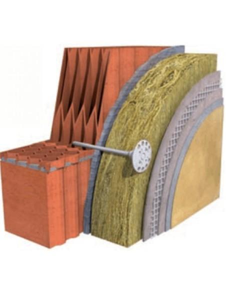 KOŁEK / KOŁKI DO STYROPIANU / WEŁNY KOELNER z długą strefą rozporu KI-160N GR.16 cm wbijany trzpień metalowy z łbem z tworzywa
