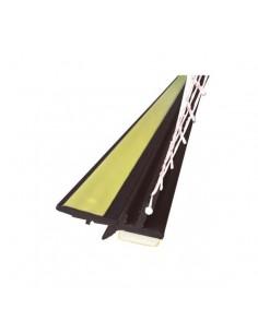 Listwa przyokienna PVC 3 mm z siatką 250 cm orzech ciemny
