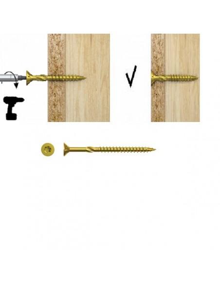 Wkręty ciesielskie do drewna RawlPlug R-TS  3,5x50 mm (100 szt.)