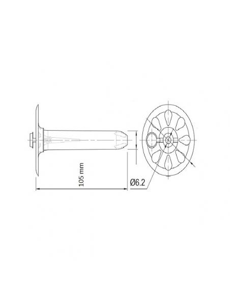 Talerzyki dociskowe RawlPlug KCX 105 mm z zaślepką