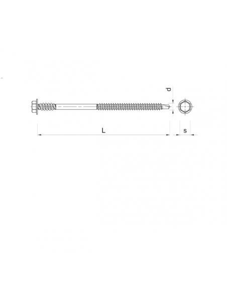 WKRĘTY do blach Koelner WB 4,8x140 mm (100 szt.)