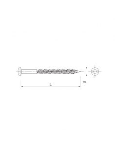 Wkręty RawlPlug R-WBT-61120 (100 szt.)